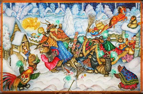 праздник коляды, ряжены и колядки