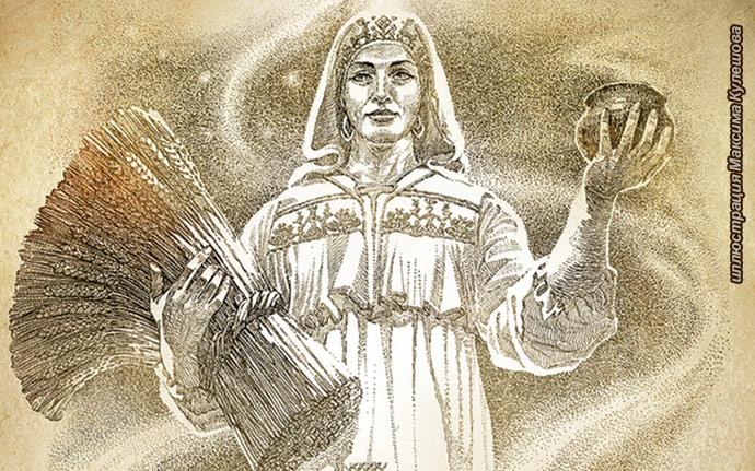 макошь, мокош, Богиня Макошь, Знак Макошь