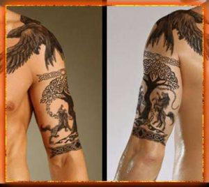 славянские тату, образ Мировое Древо, тату Мировое Древо, татуировка Мировое Древо, знак Мировое Древо