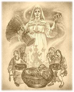водосвятие, водокрес, водосвятие у славян, праздник водосвятия, Макошь, богиня Макошь
