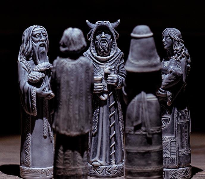 Славянские Боги, Велес, Макошь, Чернобог, Белобог, Род, Встреча пяти