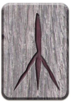 славянская руна Чернобог, руна славянского алфавита, руна Чернобог, славянская руна